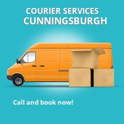 Cunningsburgh courier services ZE2