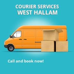 West Hallam courier services DE7