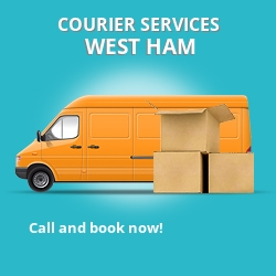 West Ham courier services E15