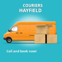 Hayfield couriers prices PA35 parcel delivery