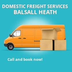 B12 local freight services Balsall Heath