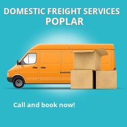 E14 local freight services Poplar