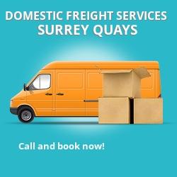 SE16 local freight services Surrey Quays