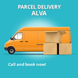 FK12 cheap parcel delivery services in Alva