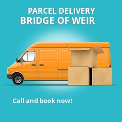 PA11 cheap parcel delivery services in Bridge Of Weir