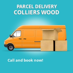 SW19 cheap parcel delivery services in Colliers Wood