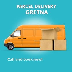 DG16 cheap parcel delivery services in Gretna