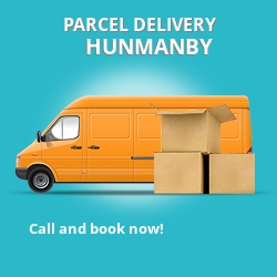 YO14 cheap parcel delivery services in Hunmanby