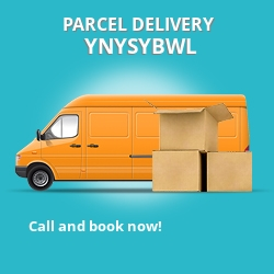 CF37 cheap parcel delivery services in Ynysybwl