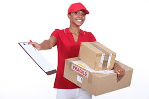 Oswaldwistle package delivery companies BB5 dhl