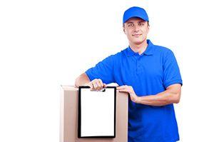 BN17 parcel collection service in Toddington