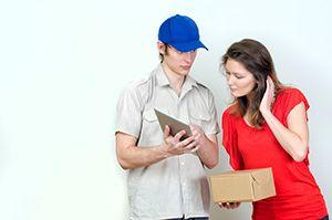 DE55 parcel delivery prices Lane End