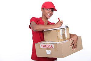 Lockerbie package delivery companies DG11 dhl