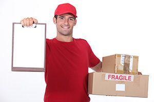 Cullompton package delivery companies EX10 dhl