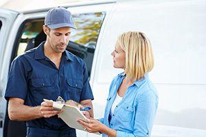 Hallglen home delivery services FK1 parcel delivery services