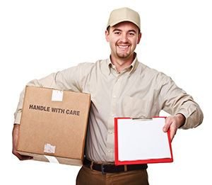 Hallglen package delivery companies FK1 dhl
