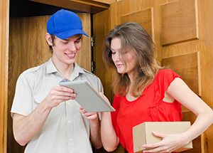 Surrey package delivery companies GU21 dhl