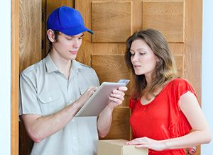 Kirkburton package delivery companies HD8 dhl