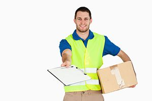 Greengairs package delivery companies ML6 dhl