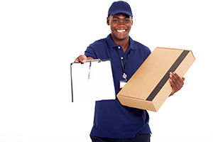 Eaton Socon package delivery companies PE19 dhl